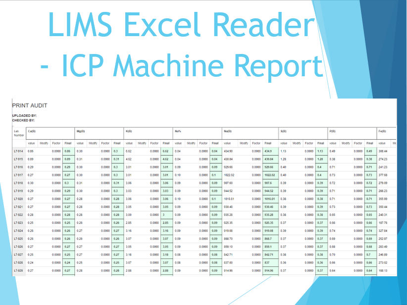 LIMS Excel Reader - ICP Machine Report
