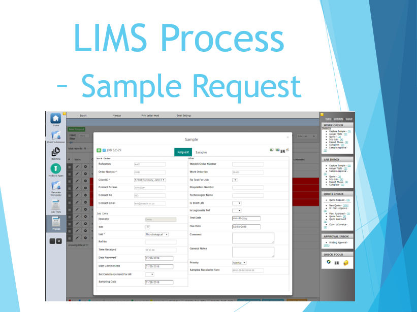 LIMS Process - Sample Request