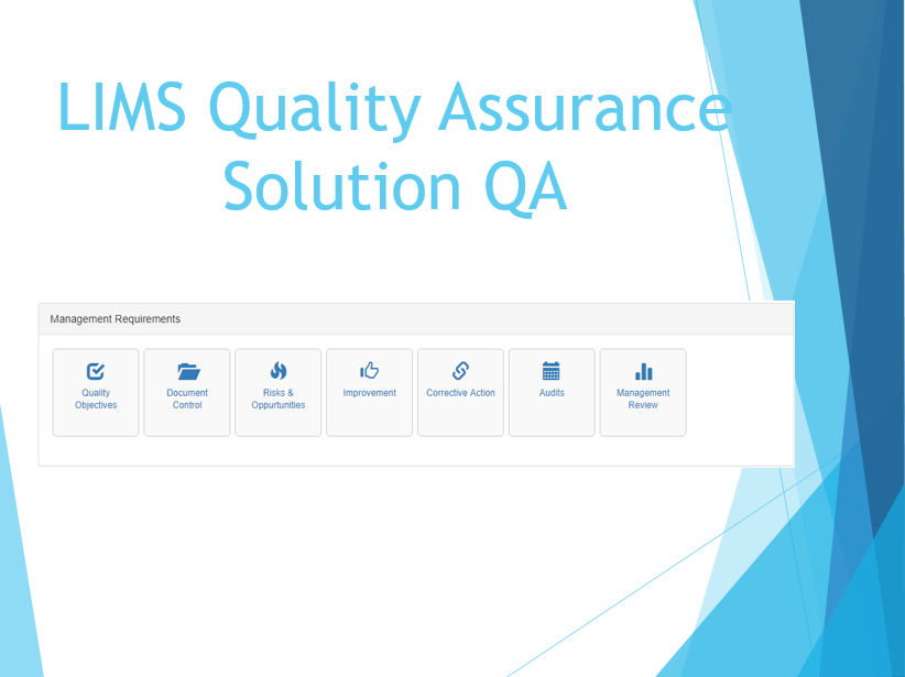 LIMS Quality Assurance Solution QA